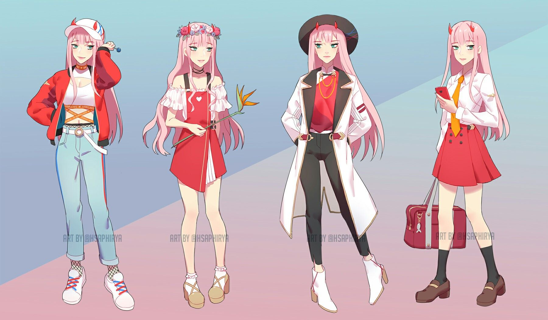 Zero Two 002 Fashion Darling In The Franxx Anime Inspired Outfits Zero Two