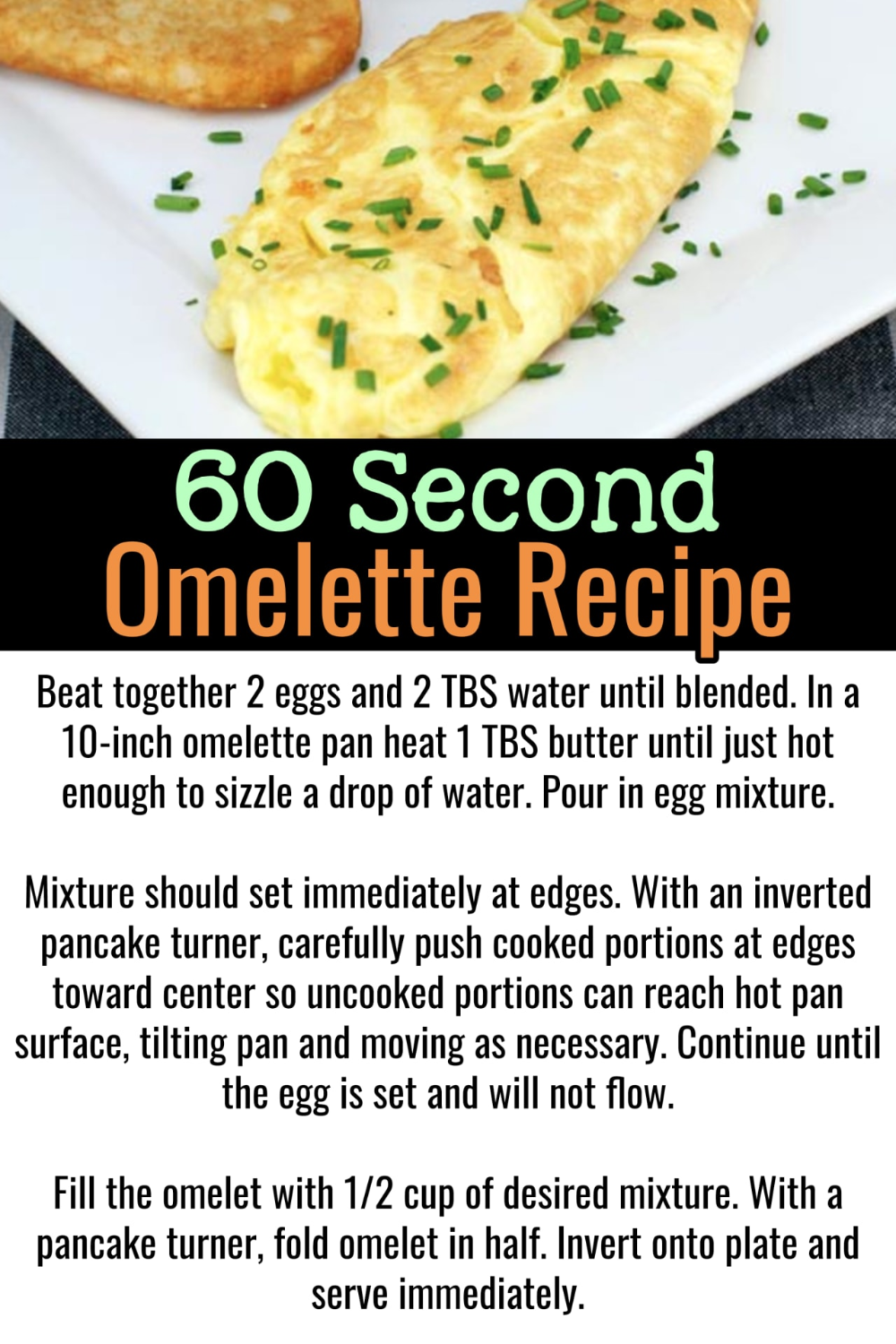 Easy Omelette Cooking Tips Make The Perfect Omelette In A