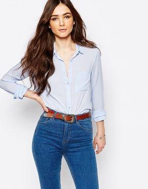 Pull&Bear Long Sleeve Shirt