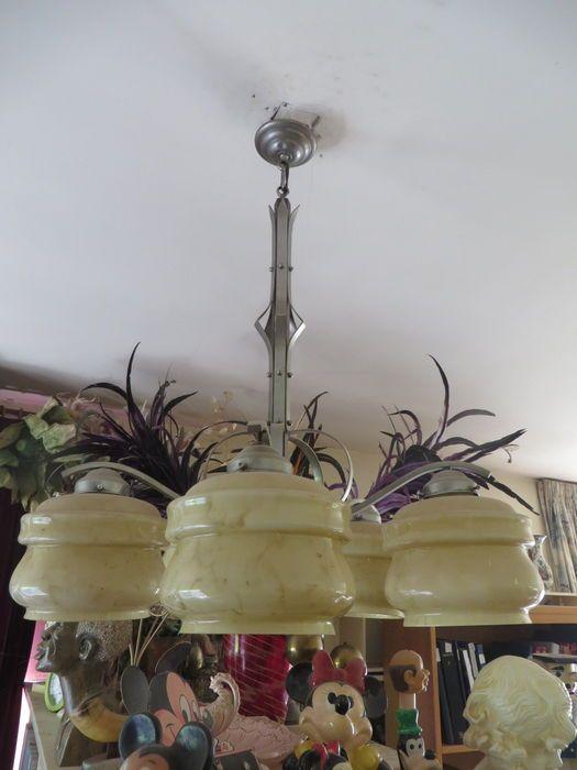 Online veilinghuis Catawiki: Art deco lamp - Met 5 bollen/kappen