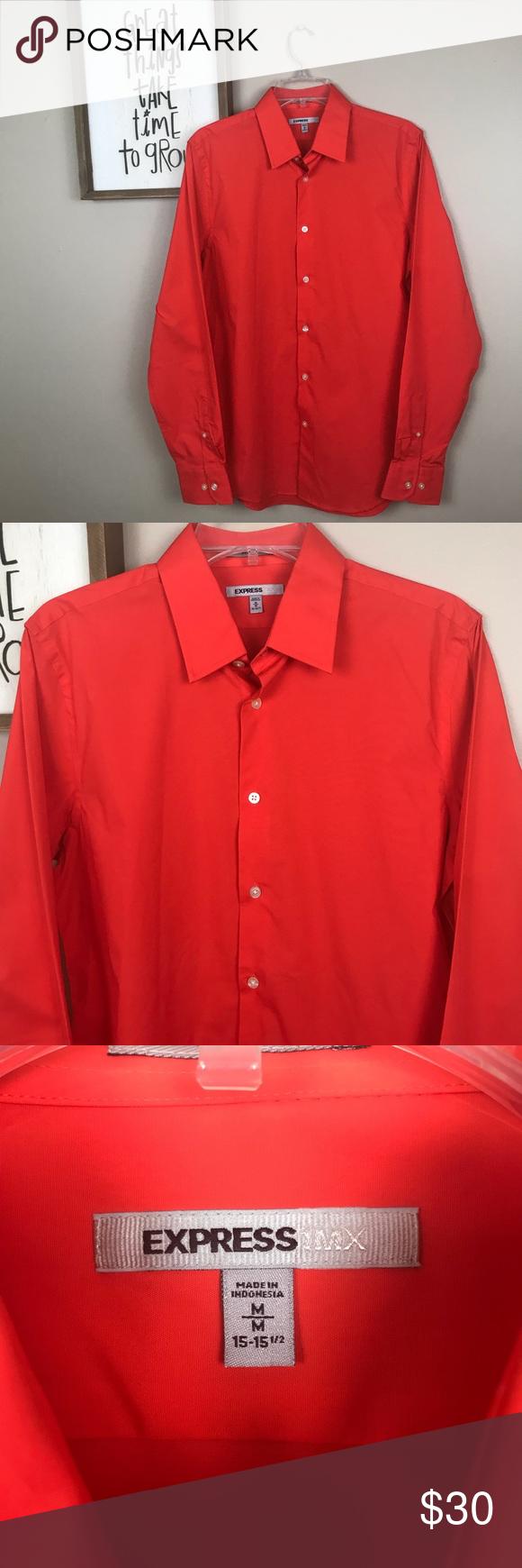 Nwot Express 1mx Burnt Orange Men S Dress Shirt Nwot Express 1mx M 15 15 1 2 Burnt Orange Men S Dress Shirt With No Def Mens Shirt Dress Clothes Design Shirts [ 1740 x 580 Pixel ]