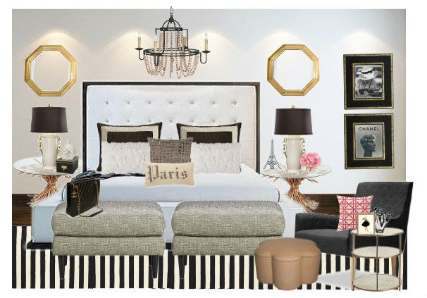 Chanel Inspired Bedroom By Juliarizzi13 Olioboard Chanel Inspired Room Bedroom Inspirations Bedroom