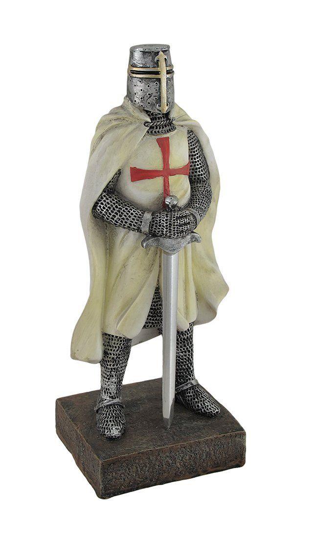Amazon com - Medieval Templar Knight in Battle Holding Sword