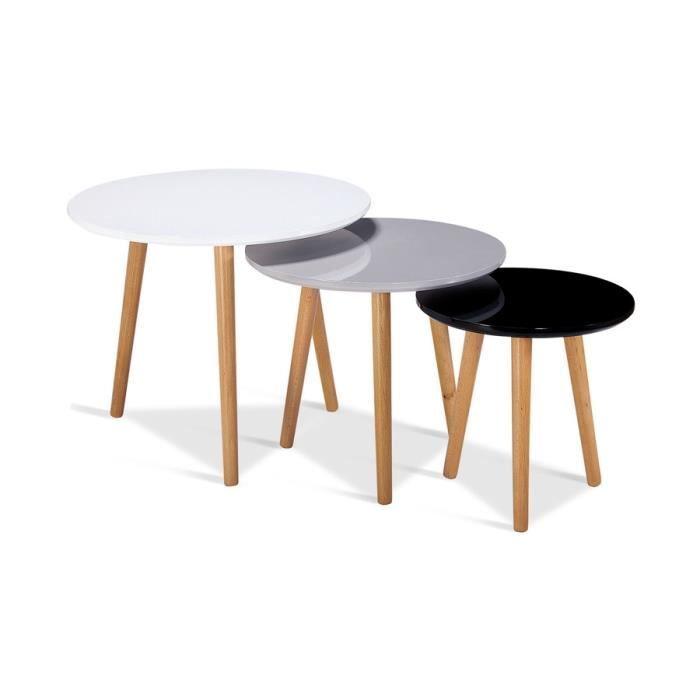Moon Table Basse Ronde Style Industriel Decor Chene Et Pieds Metal Noir Laque O 90 Cm Table Basse Ronde Decoration Table Basse Table Basse