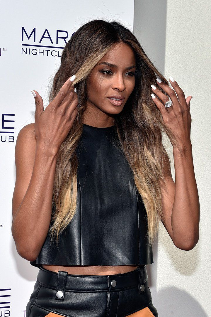 Paired Her Engagement Ring With a Whole Lot of Leather Ciara Paired Her Engagement Ring With a Whole Lot of LeatherCiara Paired Her Engagement Ring With a Whole Lot of Leather
