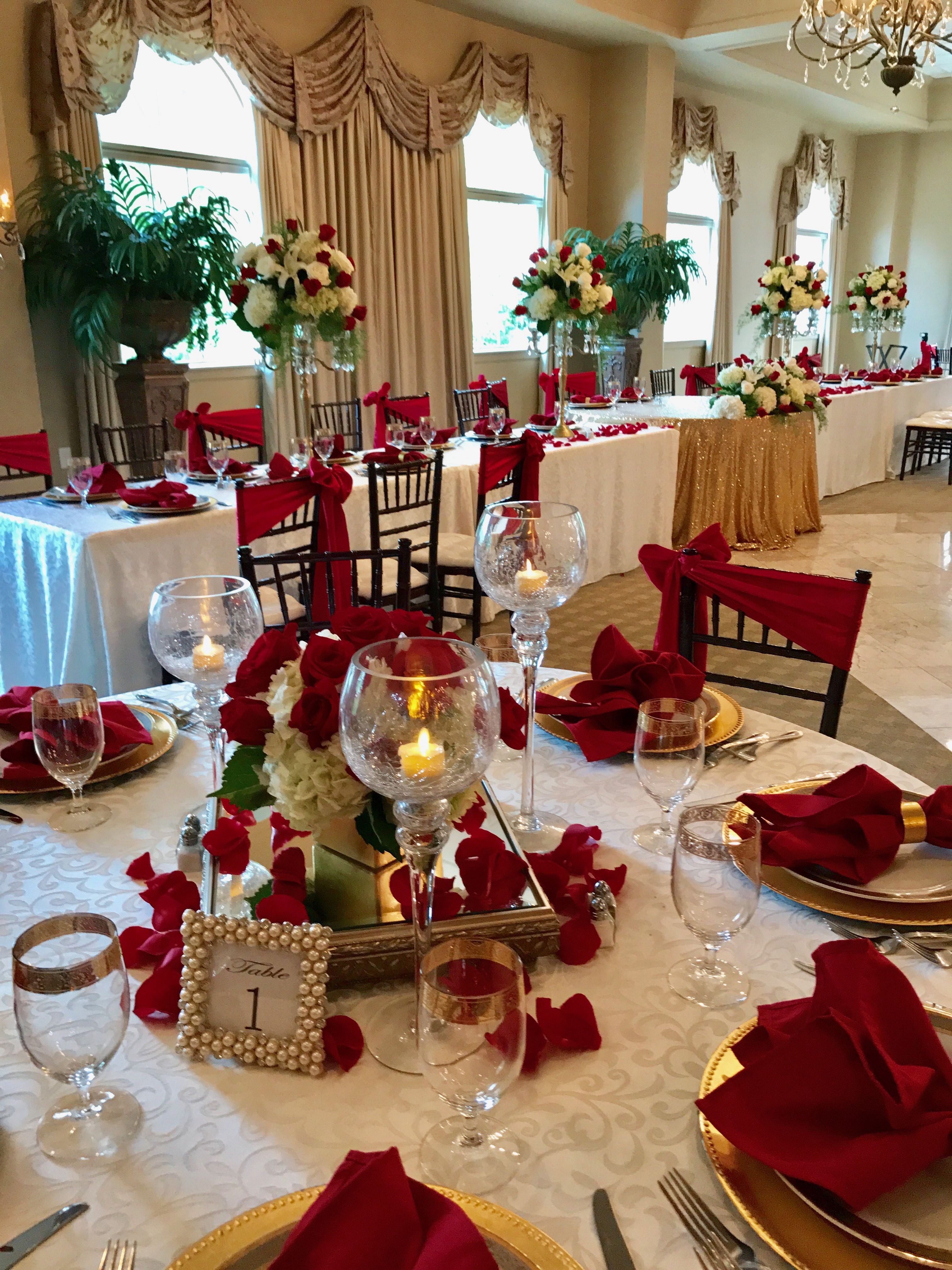 Pin By Paul Brummer On Tate House Ballroom Decor Wedding Centerpieces Wedding Decorations Christmas Table Settings