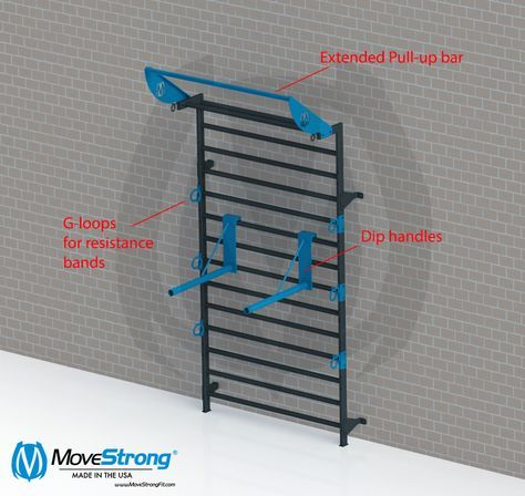 Stall bar system options fit at home gym wall bar basement gym