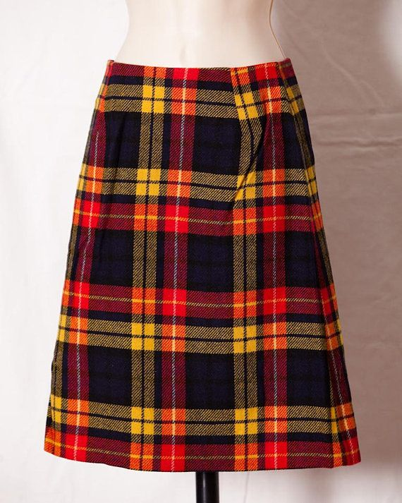 485706e969b4 Vintage Retro Womens Plaid Skirt - Bobbie Brooks   Products   Plaid ...