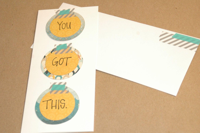 Handmade Encouragement Card by MimiandOpals on Etsy, $6.00