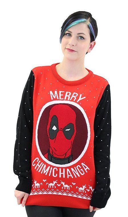 Deadpool Christmas Sweater Geek Stuff Pinterest Sweaters