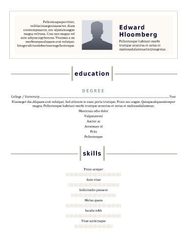 Modern-Front and Center Resume Templates Pinterest Modern