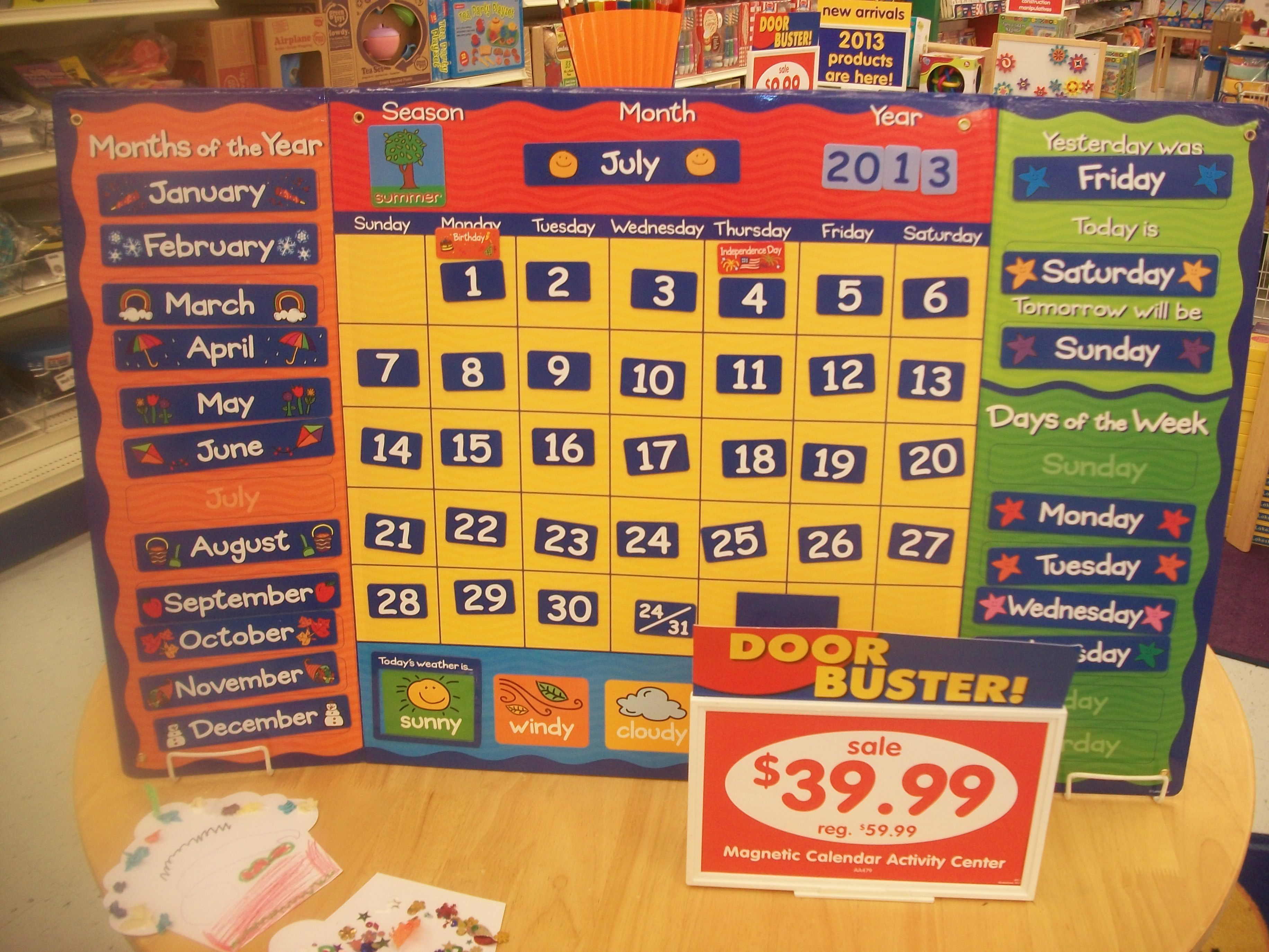 I Want This Magnetic Calendar Activity Center I Took This