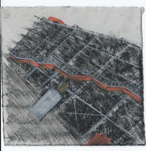 Pompidou. Paris. Andi Ipaktchi illustration. illustratrice.com