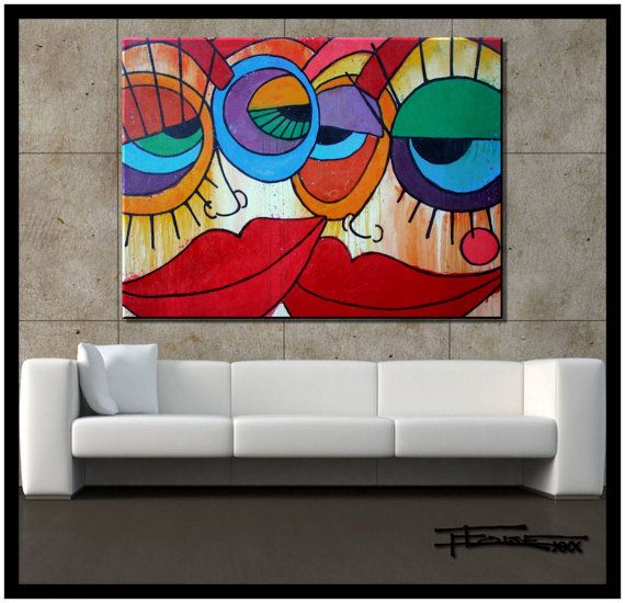 Abstract Painting Modern Canvas Wall Art Ready To Hang Etsy In 2020 Abstract Canvas Painting Abstract Art Painting Modern Abstract Painting
