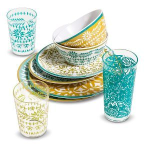 Mudhut™ Marika Blue & Gold Dinnerware Collection