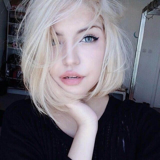 Going Really Light Can Make You Look Almost Ethereal Hair Pale Skin Hair Color For Fair Skin Short Blonde Hair