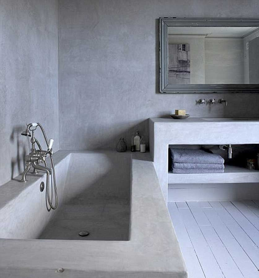 Microcemento opaco per bagno bathroom pinterest - Cemento industriale in casa ...