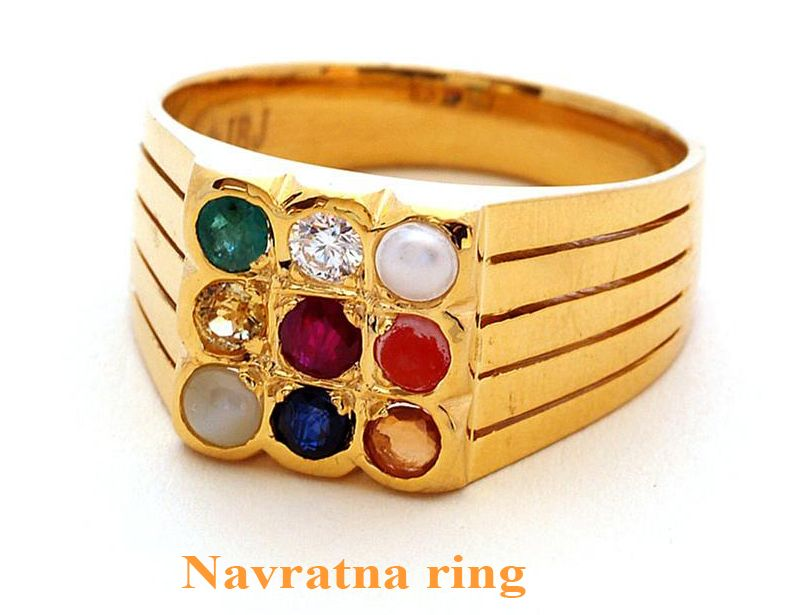 ac23cf9abe21 Very Nice Handmade Navaratna Ring Made With Sterling Silver and Studded  with Excellent Quality Of natural Gemstones Including one Natural Diamond.