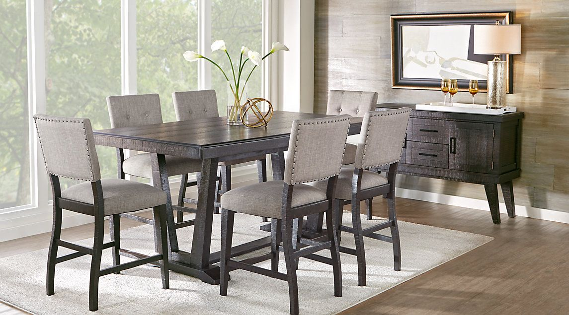 Hill Creek Black 5 Pc Rectangle Dining Room 79999Find Delectable Kitchen And Dining Room Chairs Decorating Design