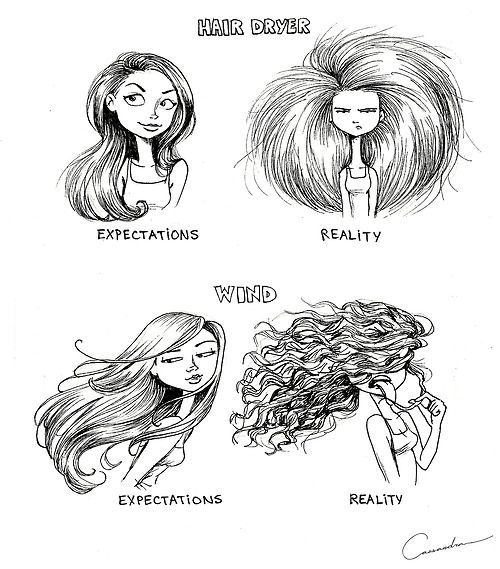 Expectation Vs Reality, Funny Illustration