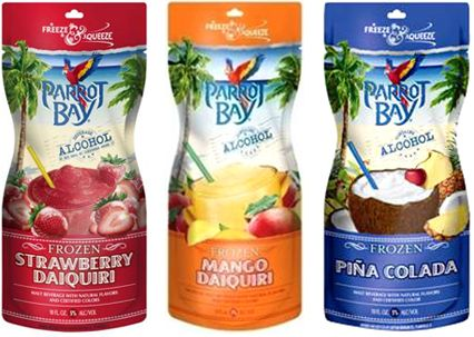 Freeze And Squeeze Parrot Bay Amp Smirnoff Frozen Pouches
