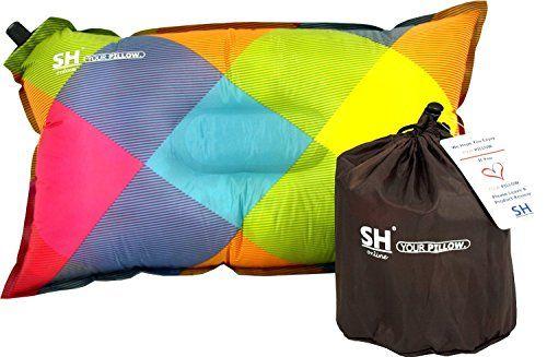 Aufblasbares Reisekissen für Festivals o ideal als Campingkissen den Strand