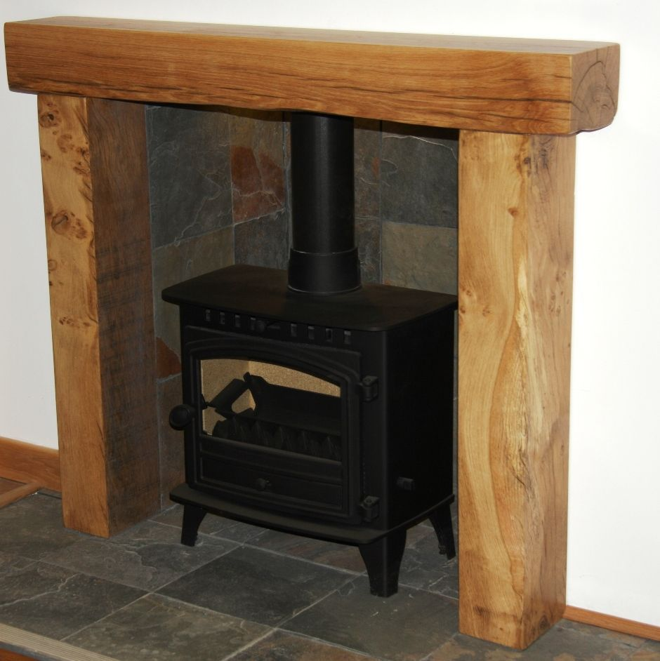 RUSTIC SOLID FRENCH OAK BEAM FIRE SURROUND - Banbury 8x6 ...