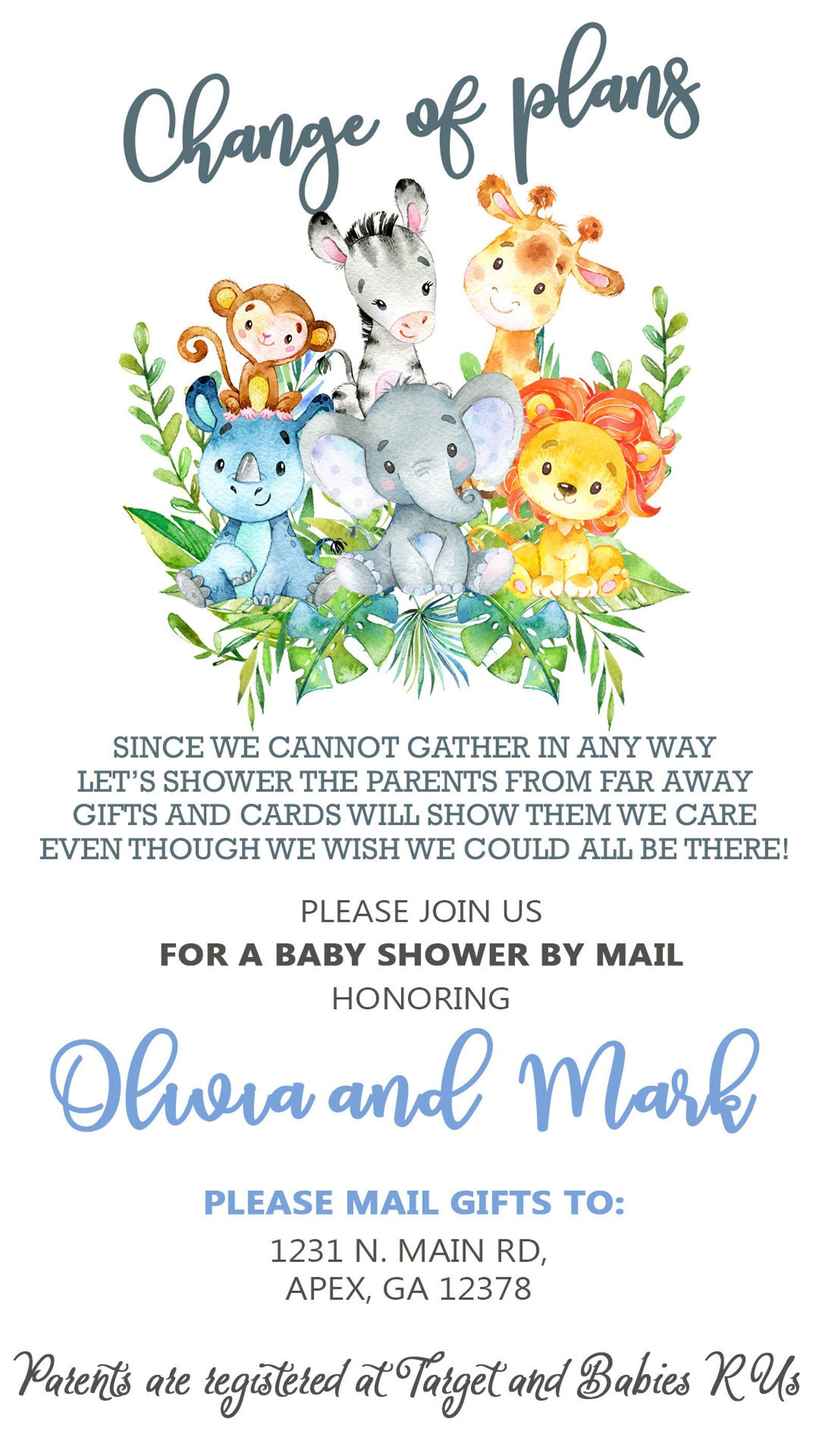 Postponed cancelled baby shower change of plans