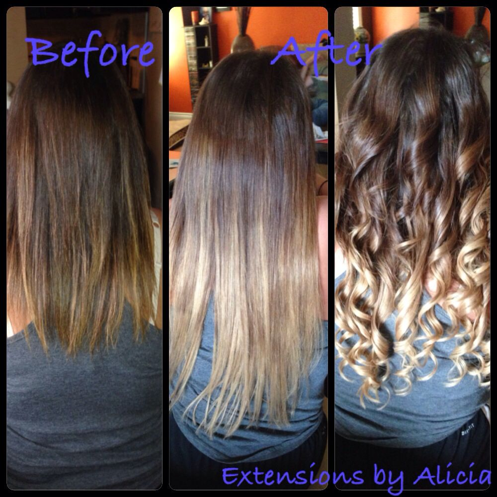 Ombre hot fusion hair extensions before and after by alicia ombre hot fusion hair extensions before and after by alicia leandro pmusecretfo Image collections