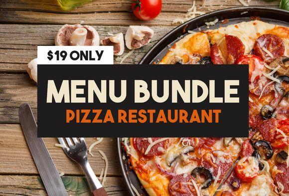 cool Pizza Menu Bundle CreativeWork247 - Fonts, Graphics, Themes ...