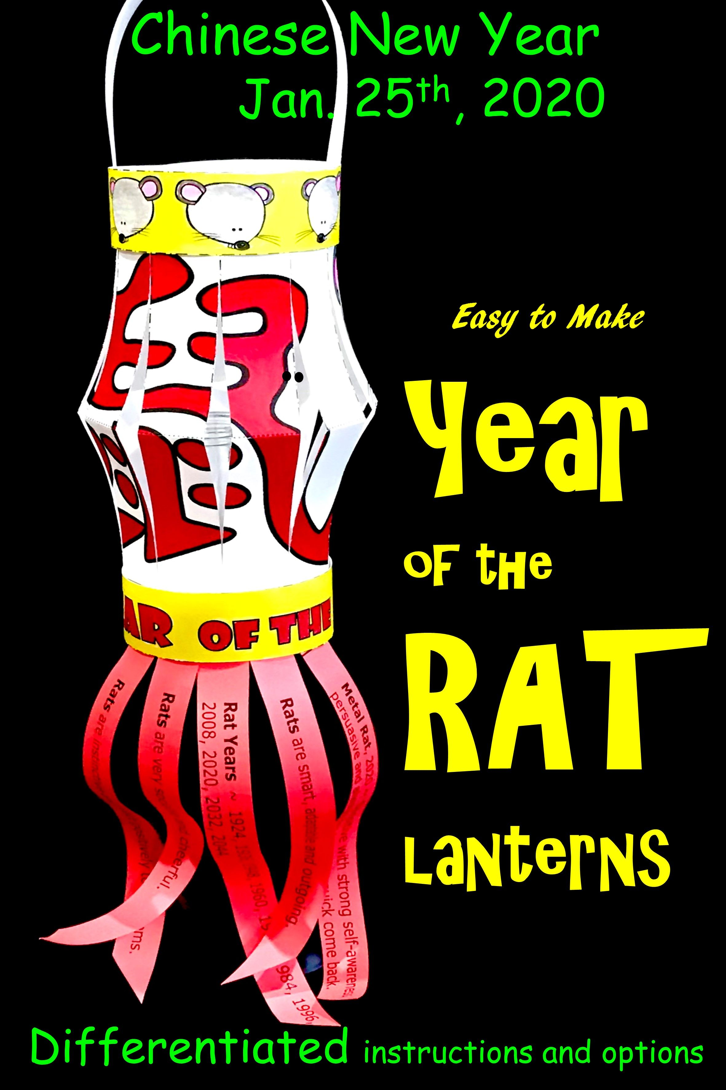Chinese New Year Lantern Year Of The Rat Activity