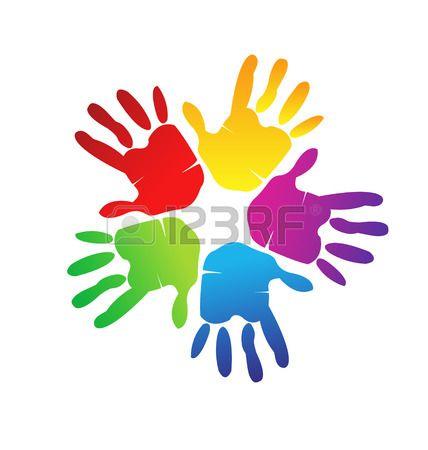Las Manos Representan A Una Familia Feliz El Amor Y El Apoyo Simbolo Vector Hand Logo Creative Graphic Design Vector Logo