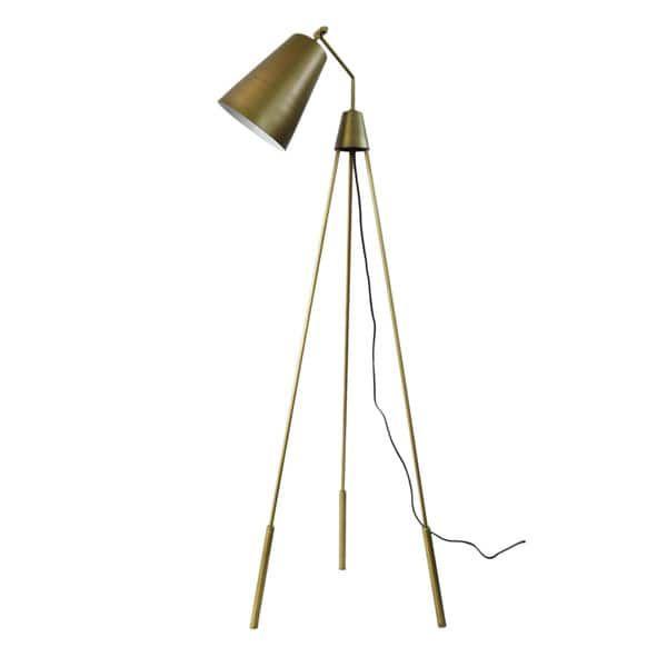 Aurelle Home Dylan Brass Tripod Floor Lamp | Overstock Style Weekend ...