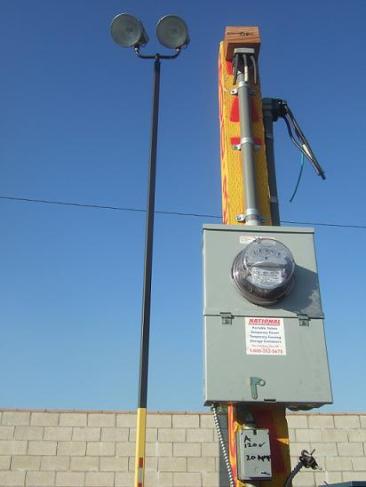 Temporary Power - Power Poles   Temporary Power