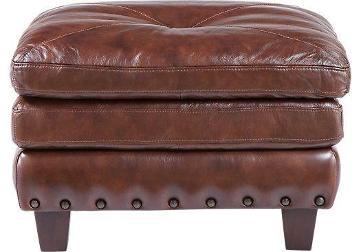 Capital City Leather Ottoman
