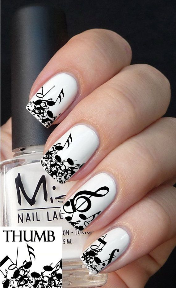 music luvs it | NAILS | Pinterest | Nail decals and Manicure