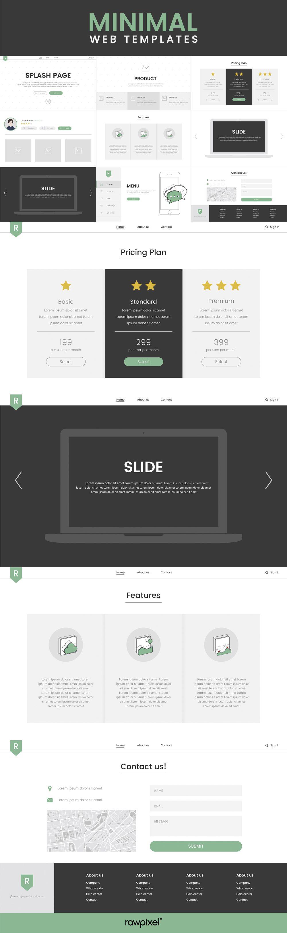 Download free beautiful royaltyfree minimal web templates