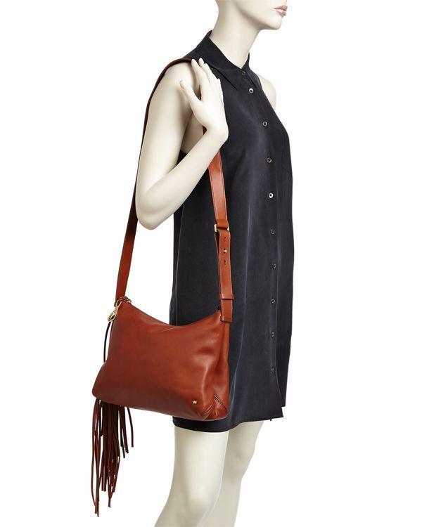 71a94ccbcdf1 Halston Heritage Tina Fringe Leather Crossbody