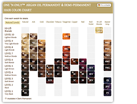 Color Chart Argan Oil Hair Color Argan Oil Hair Hair Color Chart