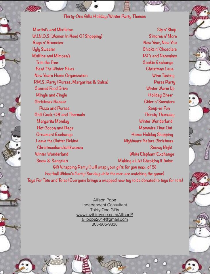 Thirty One Christmas 2019 Thirty One Gifts Holiday/Winter Party Themes .mythirtyone.