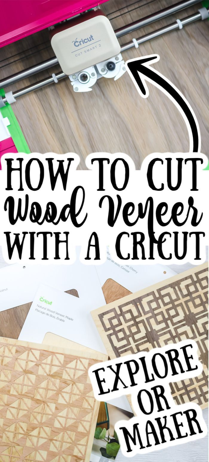 Did you know that you can cut wood veneer with either a Cricut Explore or a Cricut Maker? Learn the steps here and make something amazing with this material! #cricut #cricutcreated #cricutexplore #cricutmaker #cricutmachine #wood #woodcrafts