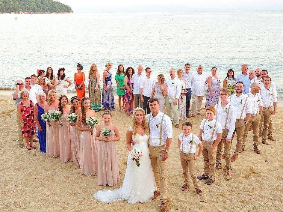small beach wedding ceremony ideas%0A A heart on Skiathos