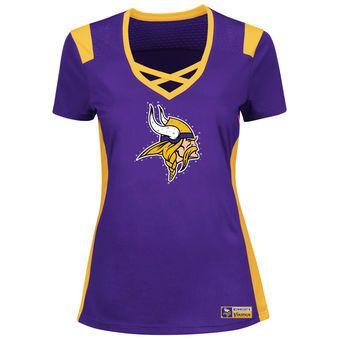 Women s Minnesota Vikings Majestic Purple Draft Me T-Shirt  1739ed2e3