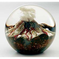 Volcano Blown Glass Paperweight