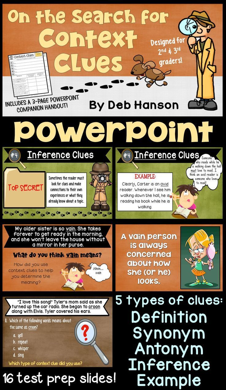 Context Clues Powerpoint 2nd And 3rd Grade 3rd Grade