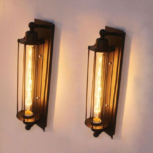 New Industrial Long Wall Lamp Retro Wall Light Rustic Wall Sconce Vintage Light Wall Lights Retro Wall Lights Edison Bulb Light Fixtures