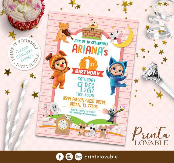 Digital Nursery Rhymes Invitation Nursery Rhymes Birthday Nursery Rhymes Printables Dave And Ava Invitations Party Ladybug Birthday Invitations