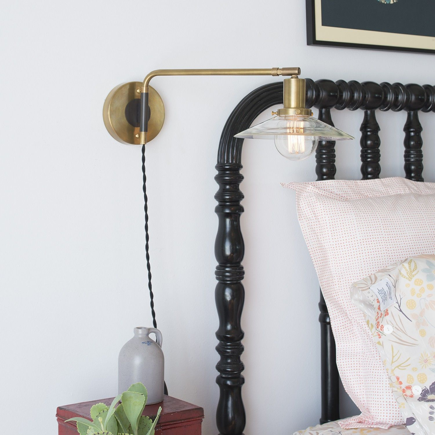 Chapman Swing Sconce  Natural Brass  Schoolhouse Electric Entrancing Lamp Bedroom 2018