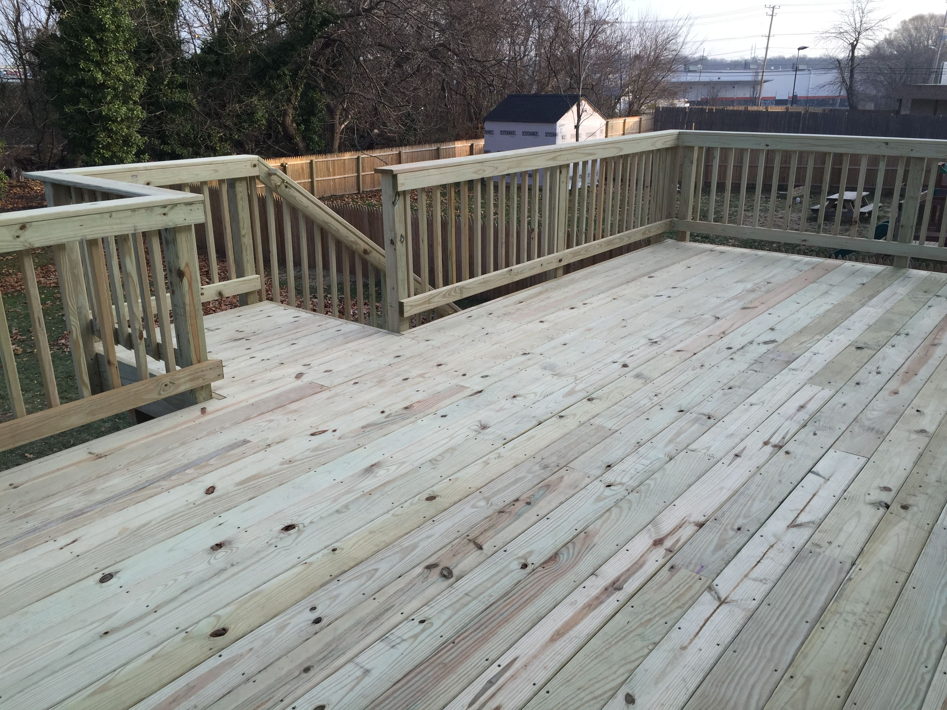 Best Standard 5 4 Pressure Treated Deck W Wood Wrap Wood 400 x 300