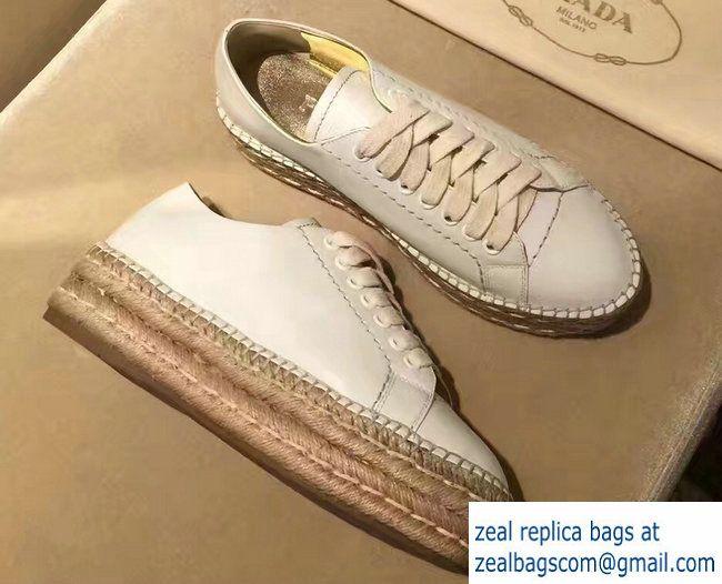 Prada Espadrilles Sneakers Lace up White 2017 | Espadrille